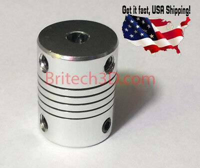 Aluminum Flexible Shaft Coupler 5mmx8mm For CNC Reprap Prusa I3 3D printer etc