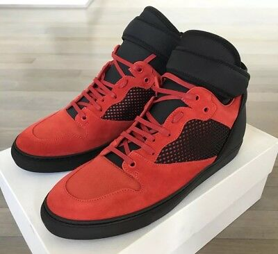 220863652685 800  BALENCIAGA RED Suede High Tops Sneakers size US 14