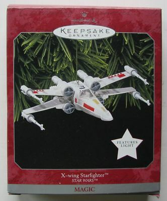 1998 Hallmark Star Wars Lighted X-Wing Starfighter Ornament