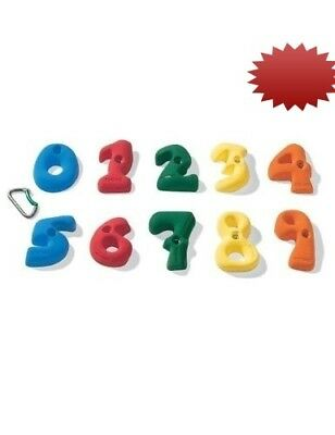 Nicros HN Kidz Set of 10 Numbers 0-9 Handholds in Assorted. Shipping is Free