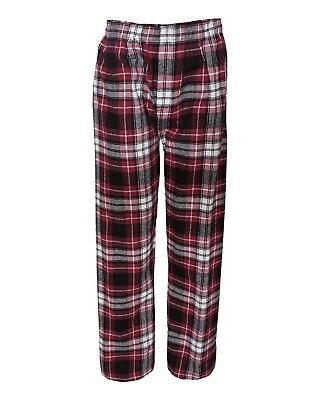 (Small, Maroon/ Black) - Boxercraft mens Classic Flannel Pants (F24). Brand New