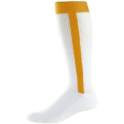 (Adult, Gold) - Baseball/Softball Stirrup and Sock Two-in-One (4 Sizes, T-Ball