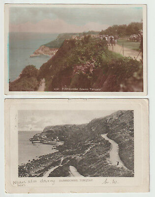 Babbacombe Devon 2x PCs Wrench posted 1903 and unposted