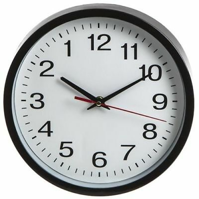 Backwards Round Wall Clock Battery Operated Anti Clockwise Modern Novelty Clock