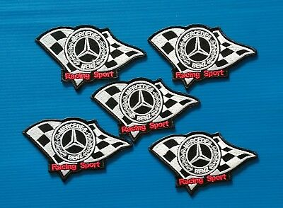 5 VALUE LOT MERCEDES BENZ Easy Iron/Sew On RACING SPORT Patches FREE SHIP