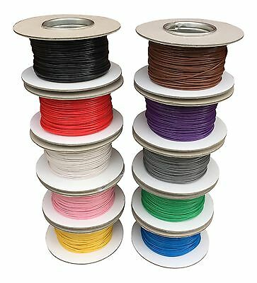 AUTOMOTIVE 0.5mm THINWALL ELECTRICAL AUTO CABLE WIRE 11AMP ALL LENGTHS/COLOURS