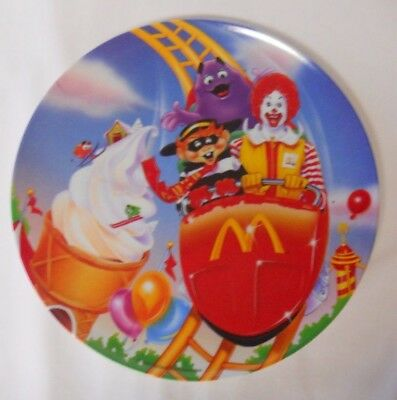 VINTAGE! 1993 McDonald's Collectible Plate-Amusement Park-Roller Coaster