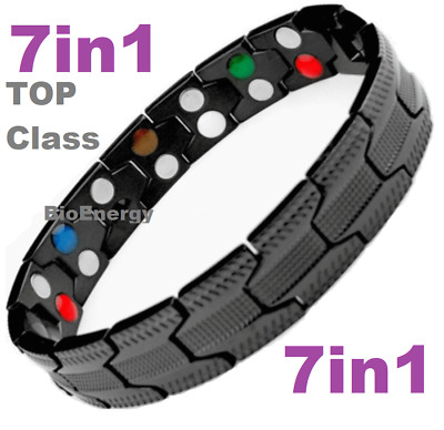 7in1 TITANIUM strong Magnetic Energy Armband Power Bracelet Bio GERMANIUM 698747