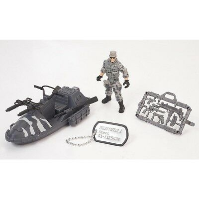 True Heroes Sentinel 1 Action Figure and Vehicle - Steel - Waverunner. Toys R Us