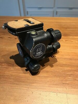 Manfrotto 410 Junior Geared Head, used bit working well, no slop, with (1) plate
