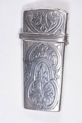 Circa 1876 Solid Silver Lancet Case with W Mather Lancets - Beauty