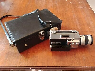 Canon Auto Zoom 814 Super 8 Movie Camera W Case. Powers On but Untested