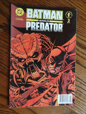 DC 1992- Batman versus Predator-Dark Horse Comics #2 of 3-Black Pages