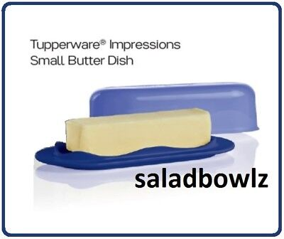 TUPPERWARE New BUTTER DISH with COVER Impressions TOKYO BLUE BPA Free! fREEsHIP!