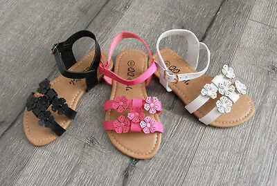 New Summer Girls Toddler Flower Sandals Shoes Wedding Dress Party size 5-10