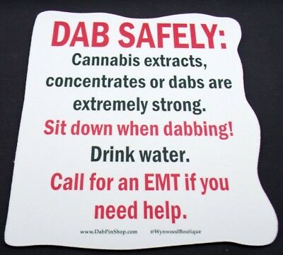 Dab Safely Caution Sign  Style Dab Pad  Oil Absorbent DabPad Dab Mat Mouse Pad