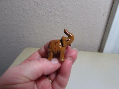 Elephant, Stone Hand carved from the Andes of Peru, Miniature Rich Hued Elephant