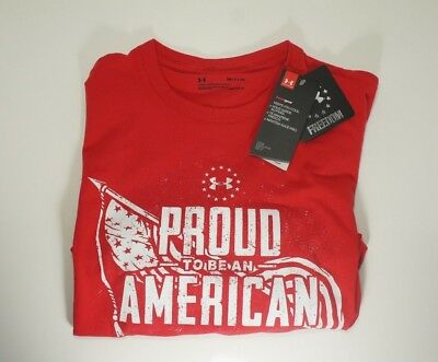 Under Armour UA Men's Tee Proud to be an American  Sizes S M New With Tag
