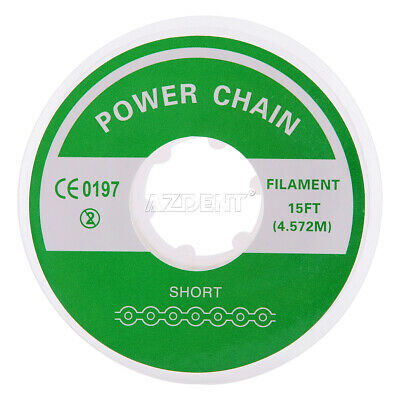 Long / Short / Continuous Type Dental Ortho Elastolink Rubber Power Chain Clear