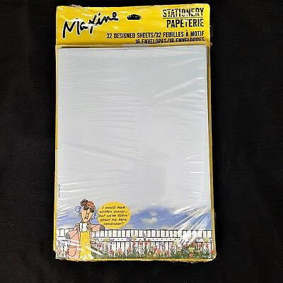 Hallmark Maxine Stationery 32 Designed Sheets 16 Envelopes