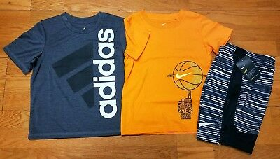 Nike and adidas Boys Size 6 Short Sleeve T Shirt and Nike Shorts NWT