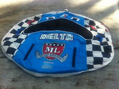 Massive 3 PERSON INFLATABLE TOWABLE WATER SKI TUBE BISCUIT RIDE