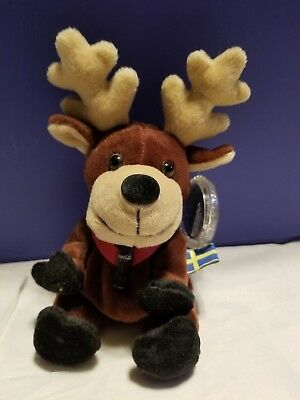 Coke International Coca Cola Beanie Animals Baltic the Reindeer Sweden NWT