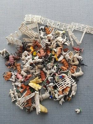 Vintage farm animals1960's collectible and other misc toy animals