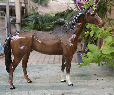 Beswick Horse Large Hunter Brown 1734