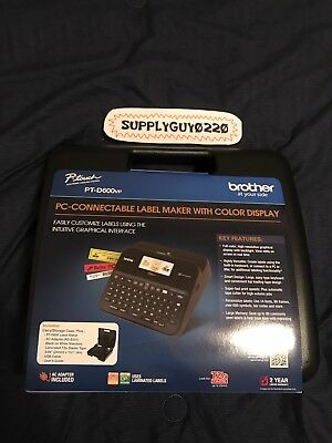 Brother P-Touch PTD600vp PC-Connectable Label Maker with Color Display >NEW<