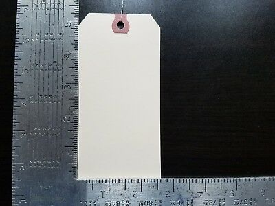 "100- 2-5/8"" x 5-1/4"" WIRED MANILA TAG HANG LABEL SHIPPING INVENTORY STOCK SIZE 6"