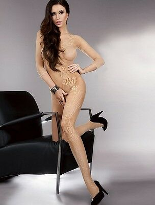 NUDE LOOK LACE SEXY BODY STOCKING - Choose Size 8-10-12