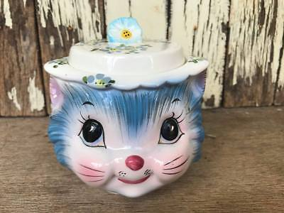 Lefton Miss Priss Kitty Cat Sugar Bowl with Lid