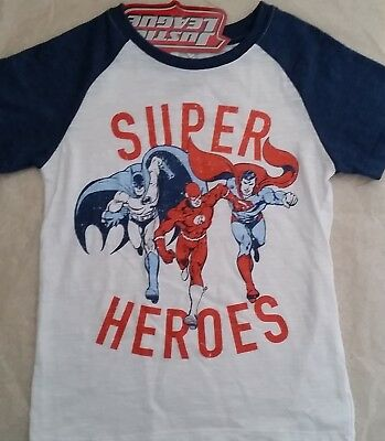JUSTICE LEAGUE Super Heroes Boy Licensed tee t shirt top NEW sizes 5-7