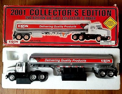 Exxon Diecast Tanker Truck 2001 Collectors Edition 2nd Edition