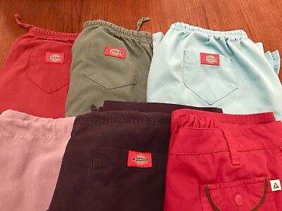 Women's Medium Scrub Pants Lot of 6 Dickies Brand Smart Scrubs And Unbranded Scr