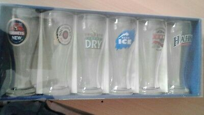 collectable Crown Australian Beer Glasses