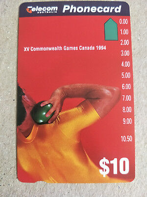 Mint $10 XV Commonwealth Games Phonecard Prefix 516 Limited Edition Overprint