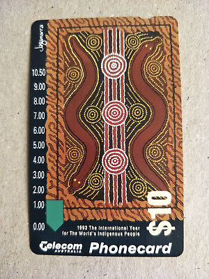 Mint $10 Indigenous People 'Life on Earth' Phonecard Prefix 295