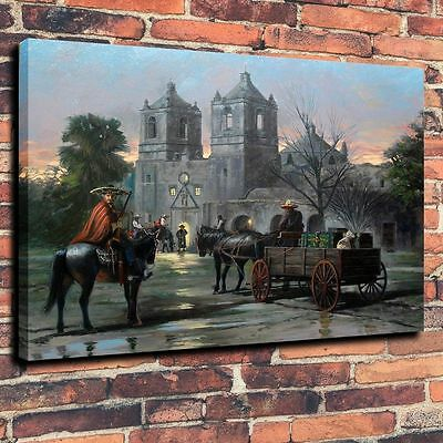 "Western Armed Horsemen Art Canvas Print Oil Painting  Home Decor 16""x20"""