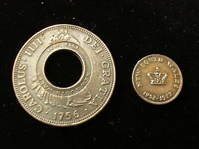 Australia 1756 Holey Dollar and Dump  Coin Space Filler #KD1