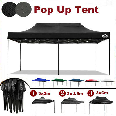 Pop Up Outdoor Gazebo Camping Tent Marquee Canopy Party Wedding 3x3m 3x4.5m 3x6m