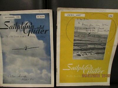 Two issues of Sailplane and Glider magazine 1946 and 1947