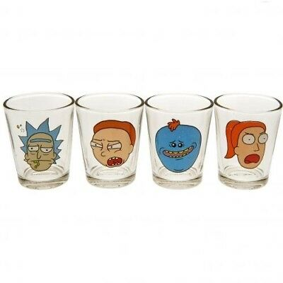 Rick And Morty 4pk Shot Glass Set Official Merchandise. Shipping Included