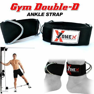 Ankle/Foot Gym Straps Training Cable Machine Attachment Fitness Weight Lifting