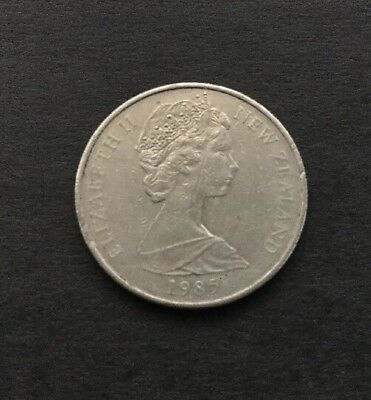 1985 New Zealand 10 Cent Coin