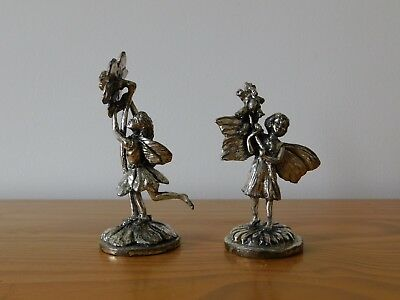 c.19th - Antique Italian Italy Silver Plated Dancers Figures Set Pair