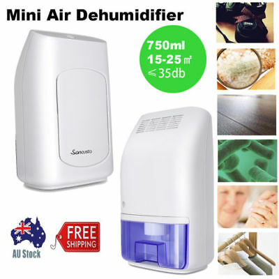 Portable 500ml Air Dehumidifier Damp Moisure Dryer 10-20m² Bathroom Garage Home