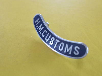 Original Obsolete HM Customs Enamel Badge with Lugs