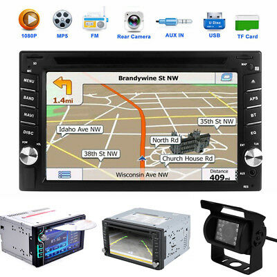 "6,2"" 2DIN Autoradio GPS Navi Stereo DVD Player Map Bluetooth + Rückfahrkamera AW"